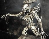 Recycled Metal Queen Monster (Medium item) --- Steampunk Cyberpunk Dieselpunk Eco Biomechanic Art Sculpture Craft Handmade