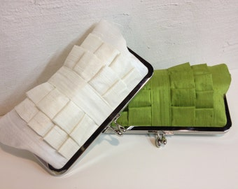Bridesmaid Gift, Bridal Clutch, Formal Purse, Pleated Clutch, Prom Clutch, Wedding Accessory (Choose Your Color) {Perfect Pleat Kisslock}