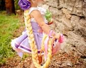 Rapunzel Inspired Dress Up Hair Braid, Blonde...Made to Order