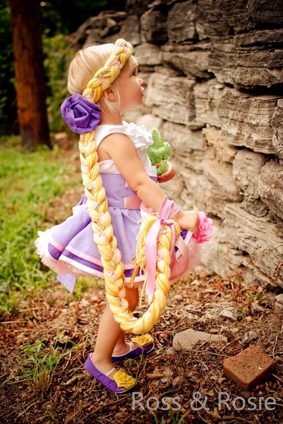 Rapunzel Inspired Dress Up Hair Braid, Blonde...Made to Order
