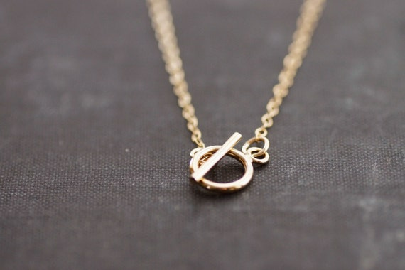 Toggle 14kt Gold Fill Chain Necklace