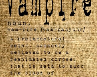 INSTANT DOWNLOAD - Vampire Dictionary Definition - Download and Print - Image Transfer - Digital Collage Sheet by Room29 - Sheet no. 929