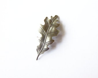 Silver Oak Leaf Barrette Bridal Hair Clip Bride Bridesmaid Nature Botanical Garden Rustic Woodland Wedding Accessories Womens Gift For Her