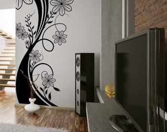 Vinyl Wall Decal Sticker Flower Stalk 1108s