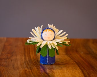 Felt Doll Waldorf Miniature - Blue Eyed Daisy