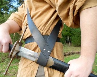 Swordsmen's Leather Baldric