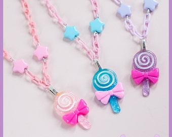 Lollipop & Star Necklace