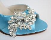 Wedding Shoe - Crystal Wedding Shoe - Wedding Heels - Bridal Shoe - Custom Wedding Shoe -Bespoke Wedding Shoe Blue Wedding Shoe - 200 Colors