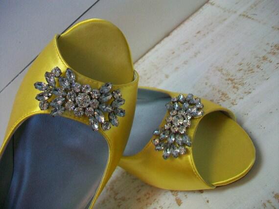 Bling Flat Wedding Shoes Wedding Shoes Peep Toe Flats