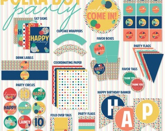 Polka Dot Party PRINTABLE Birthday Collection by Love The Day