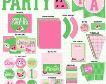 Pink Watermelon Party PRINTABLE Full Collection by Love The Day