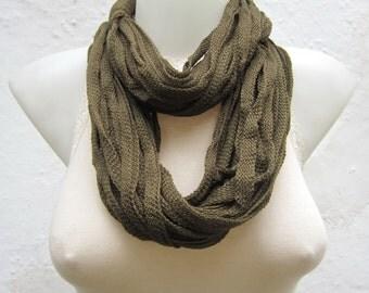 Fiber Scarf,Scarf infinity,Green,Circle Scarf,women scarf