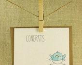 Handmade New Baby Card - Girl or Boy - Congrats