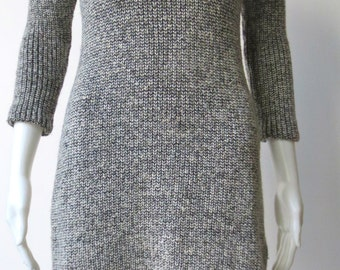 Chic Vintage 1980s Black and White I. Magnin Sweater Dress