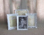 Shabby White Frame Collection for Wedding or Home Decor - dewdropdaisies