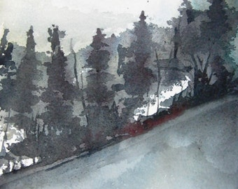 Forest Glade - Original Watercolor Painting