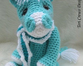Crochet Pattern Cute Horse by Teri Crews Wool and Whims Instant Download PDF Format