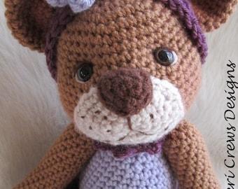 Crochet Pattern Darling Bear by Teri Crews instant download PDF format Toy Pattern