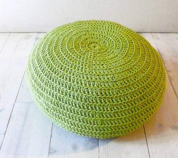 Floor Cushion Crochet -  lima green