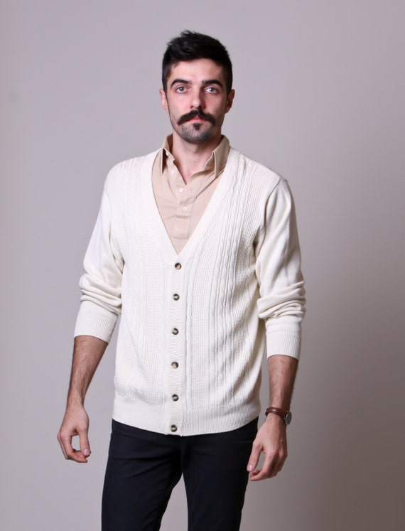 Men delight in the design and feel of these men white cardigans. Search for the proper material and clothing size from the listed items shown here to get exactly what you want. From the various colors and patterns available, select men white cardigans that resonate with you.