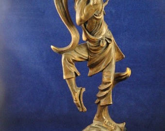 Asian Flute Player Fontanini Plastic Depose Italy