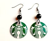Starbucks Earrings Metal Recycled Soda Can Jewelry Women Jewelry Women Gift Eco Friendly Handmade Coffee - E50