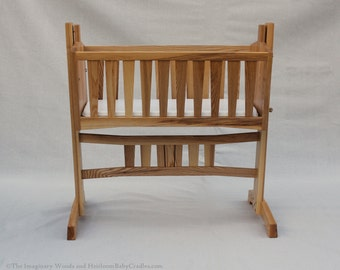 Heirloom Baby Cradle with Mortise and Tenon Construction - Limited Edition - Built to Order