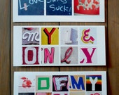 Assorted LOVE & SASSY LOVE Card - Photo Letters - Set of 3