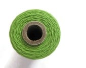 Green Apple Bakers Twine - Solid Divine Twine - Craft - Packaging - DIY Invitation Wrapping String - Decorating - 240 Yards Full Spool Roll