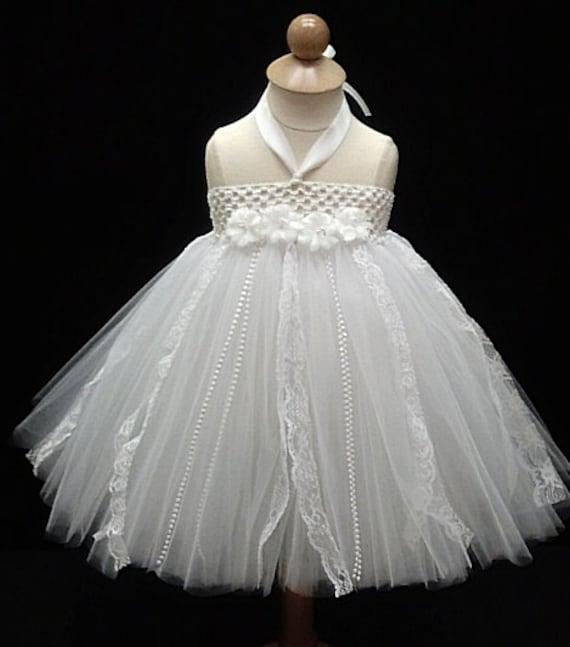 White Tutu Dress Infant Tutu Baby Tutu Dress Baby by houseoftutus