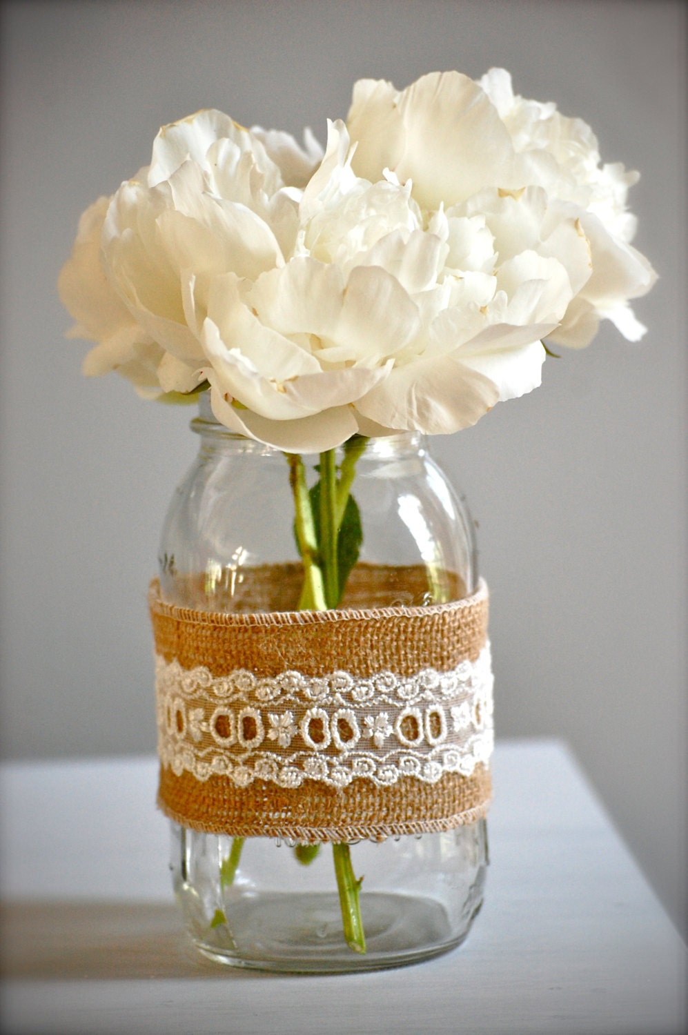 Popular items for rustic wedding vase on Etsy