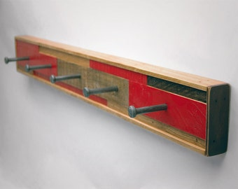 Coat Rack 5 Hook Recycled Wood (Scarano Style)