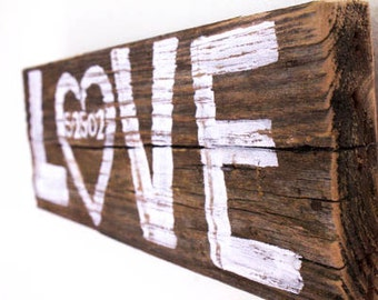 Custom Rustic White Wedding Sign Decor Personalized Date Love Wedding Sign Beach Wedding Reception Reclaimed Distressed Wood Photo Prop