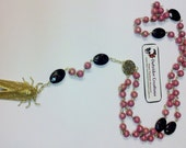 Rosary Style Necklace With Cicada