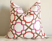 Cheerful Large Lattice pillow cover