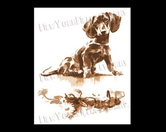 It Wasn't Me, Dachshund Pattern, Vintage Dachshund Pattern, Cross Stitch, Needlepoint, Dog Pattern, Dachshund by NewYorkNeedleworks on Etsy