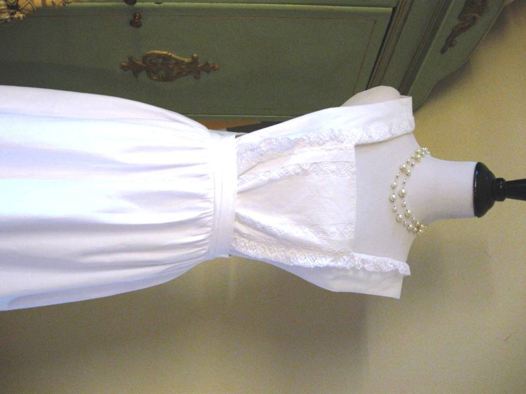 Downton Abbey Ish House Maid Apron All Recycled White Lace
