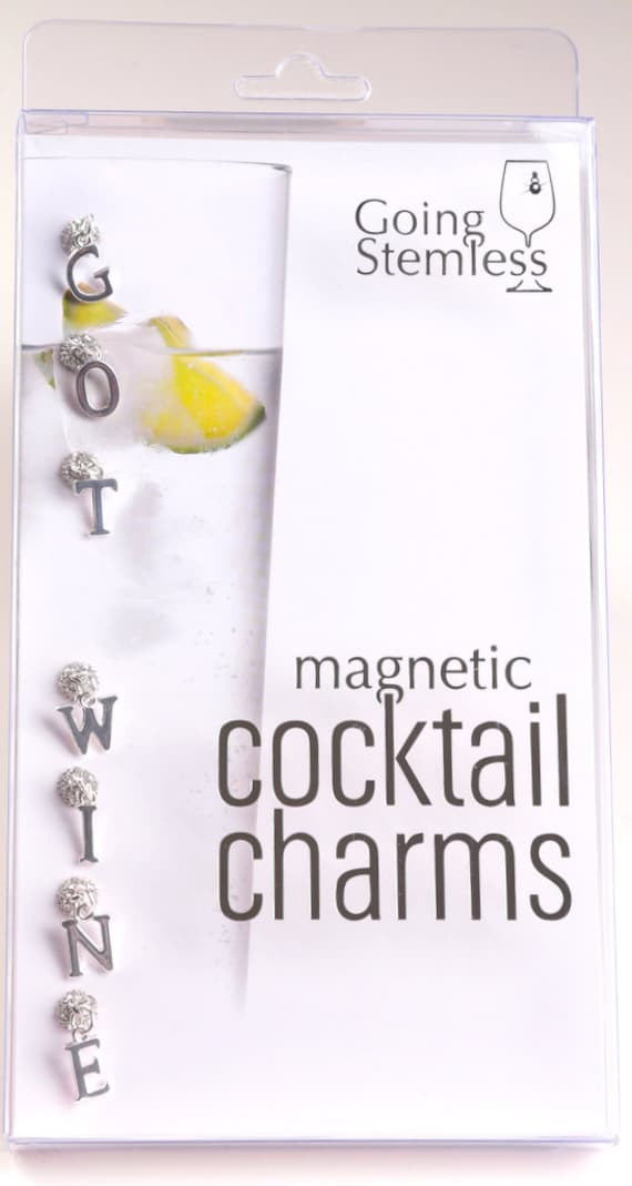 Magnetic Wine Charms for Stemless Glasses Got Wine