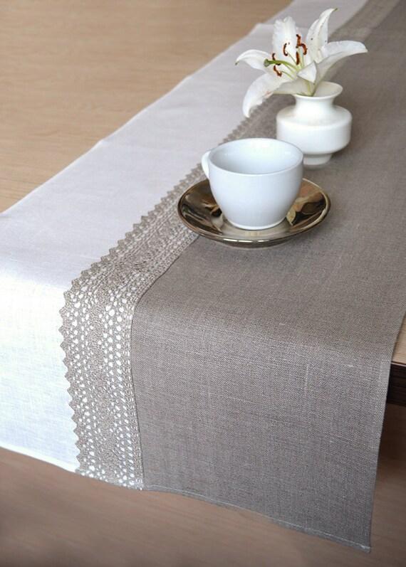 christmas table runner natural undyed linen table runner. Black Bedroom Furniture Sets. Home Design Ideas