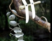 Driftwood and dragonfly, spoon fish wind chimes, Number 31,spoon fish, fish decoration, fishing, unique garden gift, unique windchime, drago