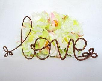 Rustic LOVE Cake Topper, - Rustic Wedding Cake Topper, Barn Wedding Decoration, Shabby Chic Wedding, Barn Wedding, Garden Party