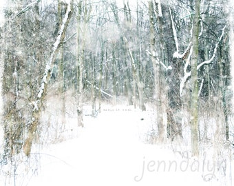 Magic Snow - PHOTO, winter white, snowy landscape, holiday decor, winter forest