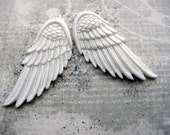 Give Me Wings Carved Bone Pair Drilled Pendant Beads