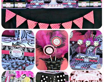 Party Decorating Ideas For Adults bunco party | etsy
