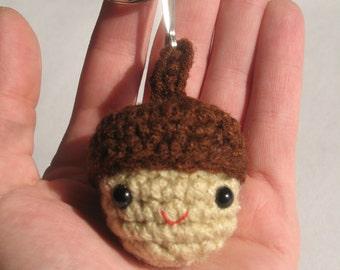 Tiny Acorn Keychain