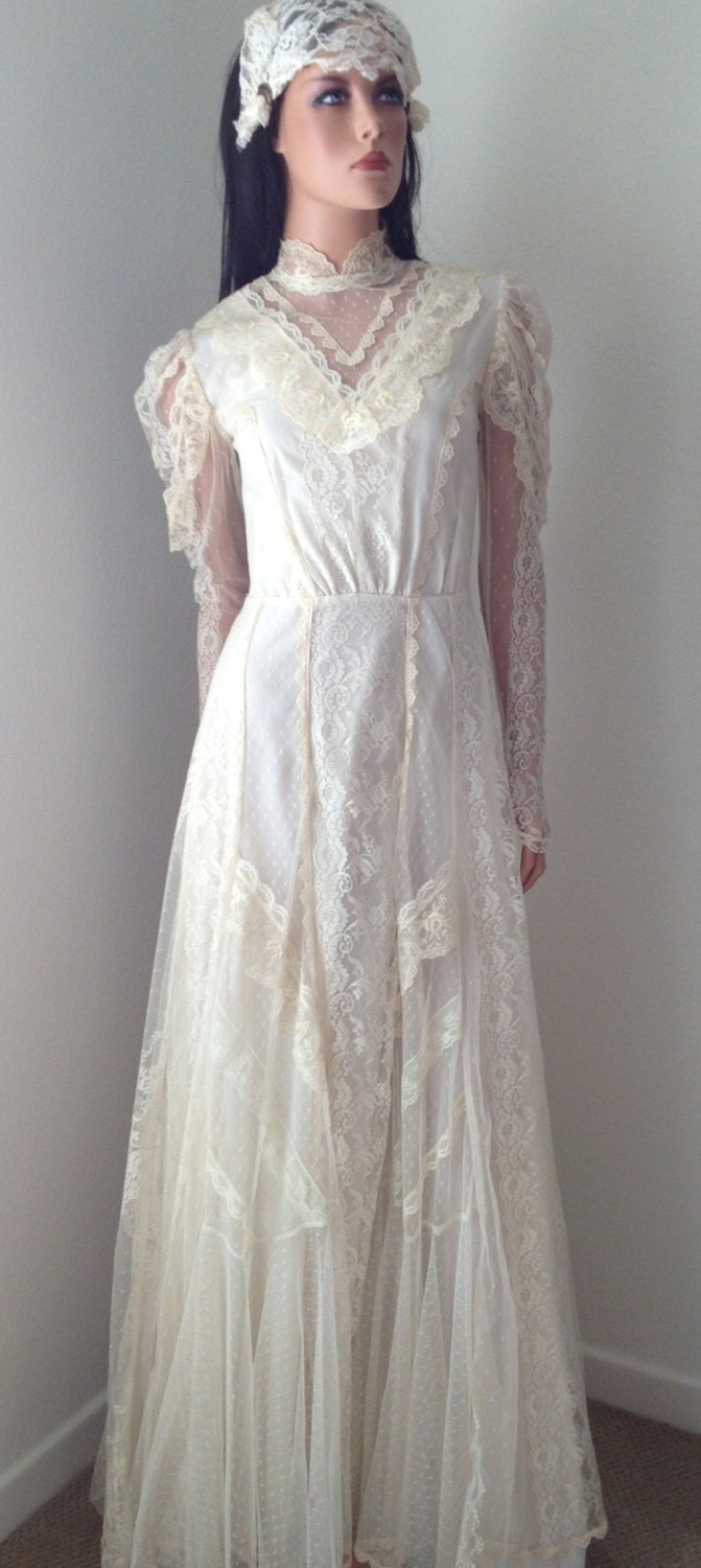 vintage wedding dress stunning victorian lace by