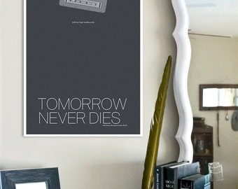 James Bond inspired Spy Film Print - 13x19 Tomorrow Never Dies Movie Poster