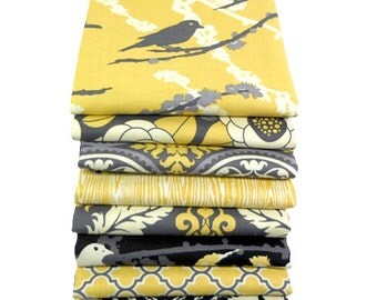Joel Dewberry FAT QUARTER Bundle - AVIARY 2 - Granite Palette - Free Spirit Fabric - 8 pcs