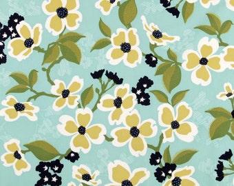Dogwood Bloom in Pond  JD31 - Joel Dewberry - Modern Meadow - Free Spirit Fabric  - By the Yard