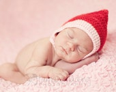 Crochet Baby Pixie Gnome Bonnet Newborn - MADE TO ORDER